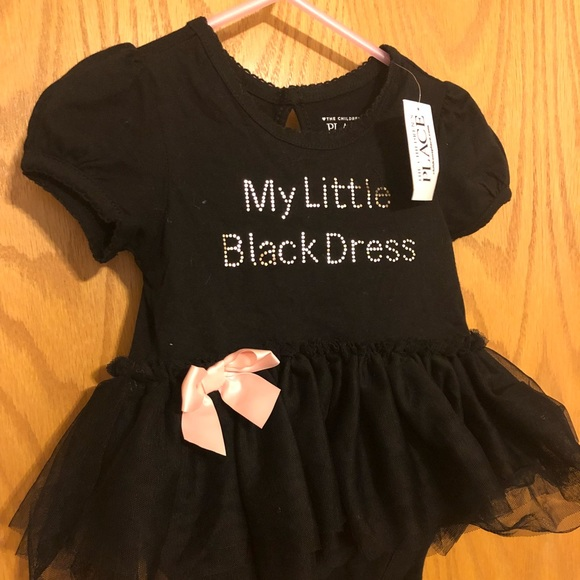 The Childrens Place One Pieces Little Black Dress Onesie Poshmark